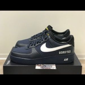 Nike Air Force 1 AF1 Gore Tex Leather Blue White